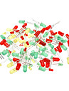 3mm et 5mm Diode electroluminescente - vert + rouge + jaune (100 pieces Pack)