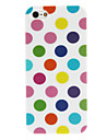 Colorful Round Dots Pattern TPU Soft Case for iPhone 5/5S