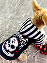 Cool Skull Pattern Denim Coat with Hoodie Costume for Pets Dogs (Assorted Colors, Sizes)