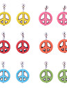 European Style Sweet Colorful Turqoise  Anti-War Peace Sign Drop Earrings(Random color)