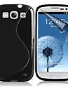 s forma textura TPU caso de volta suave para Samsung Galaxy S3 i9300 (cores sortidas)