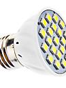 3W E26/E27 Faretti LED MR16 21 SMD 5050 240 lm Bianco AC 110-130 / AC 220-240 V