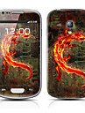 Golden Monster Pattern Front and Back Protector Stickers for Samsung Galaxy S3 mini I8190