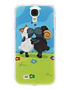 For Samsung Galaxy etui Mønster Etui Bagcover Etui Dyr PC Samsung S4