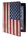 De Sterren en de Strepen patroon pu lederen Full Body Case met standaard voor iPad 2/3/4
