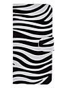 zebre cas de tout le corps de modele avec lecteur de carte et construit en mat pc de couverture pour l\'iphone 5/5s