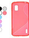 S Pattern TPU Myk beskyttende etui for Google LG Nexus 4 E960 (valgfrie farger)