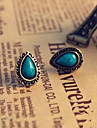 Lureme®Vintage Turqoise Teardrop Shape Earrings