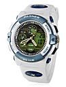 Men's Multi-Function Analog-Digital Dial Rubber Band Quartz Wrist Watch (White) Cool Watch Unique Watch