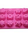 12-в-1 мягкая резиновая торт / хлеб / мусс / желе / формы шоколада (случайный цвет)