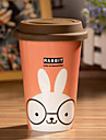 tasse de lapin de dessin animé avec de la colle souple couvercle tasse