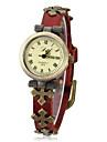 Women's Vintage Cross Style PU Band Quartz Analog Bracelet Watch (Assorted Colors) Cool Watches Unique Watches