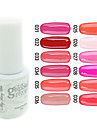 YeManNvYou®Sequins UV Color Gel Nail Polish No.25-36 (5ml, Assorted Colors)