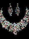 Ensemble de bijoux Femme Anniversaire / Cadeau / Soree / Occasion speciale Parures Alliage Stras / ZirconBoucles d\'oreille / Colliers