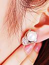 La moda de joyeria fina japones y coreano con los granos del diamante del temperamento pendientes E462 Lily