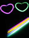 DIY Halloween Loving-heart Glasses with 10PCS Noctilucent Sticks(Random Color)