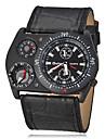 analogique montre-bracelet boussole thermometre des hommes PU bande de quartz (couleurs assorties)