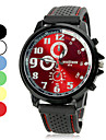 Unisex Alloy Round Dial Silicone Band Quartz Analog Wrist Watch (Assorted Colors) Cool Watch Unique Watch