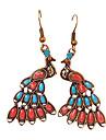 European and American jewelry bohemian retro fashion beautiful peacock earrings Control E37