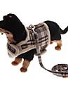 Dog Harness / Leash Keep Warm Black / Brown Textile