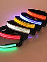 Dog Collar LED Lights / Safety Red / White / Green / Blue / Pink / Yellow / Orange Nylon / Plastic