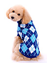 Dog Sweater / Clothes/Clothing Blue Winter Plaid/Check
