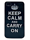 Keep Calm and Carry On Black Colr TPU Case for iPhone 4/4S