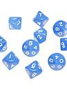 10stk decahedron ABS Blaa Figures Terninger