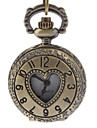 Men's Heart Cover Vintage Alloy Quartz Analog Pocket Watch with Chain Cool Watch Unique Watch Fashion Watch