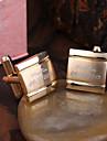 Персонализированные золото подарка Squared Гравировка Запонки