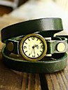 Women\'s Vintage Long Strap Style Leather Band Quartz Analog Bracelet Watch (Assorted Colors)