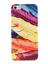 Moda Feather Estilo Case Capa Plástico Designer para iPhone 5/5S