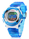 LCD numerique multifonctions bande de silicone de montre-bracelet pour enfants (couleurs assorties)