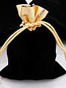 10pcs top con cordon de terciopelo bolsa de regalo de la joyeria bolsa 10x12cm g Olden