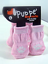 Pink Paw Fashion Cotton Socks with Non-slip for Pets Dogs and Cats