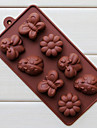 Silicone Eight Holes Assorted Insects Shape Chocolate Tray (Color Randoms)