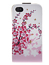 Plum Blossom PU Leather Full Bady Case for iPhone 4/4S