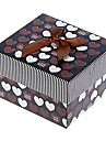 Motif Decor bowknot Sweet Heart cubique Box Watch (assorties couleurs)