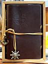 старинные 18x14cm кожа журнал спиральный узор памятка творческой ноутбук (случайный цвет)