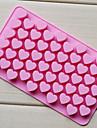 любовь сердце формы шоколада лоток, силиконовые 55 отверстий (цвет Randoms) см-87