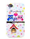 Caso corujas Família suave TPU para o iphone 4S / 4