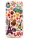 Case TPU IMD brillant Tour Eiffel et Pain pour iphone 5C