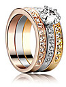 Luxuriou Women's Tranparent Cubic Zirconia Ring(1pc)