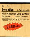 2450mAh Cell Phone Battery for  BG86100 EVO 3D AMAZE 4G 35H00166-01M, HTC Evo 3D/Tmobile Amaze 4G/G14 Sensation 4G