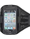 Elegante bolsa de la caja Negro reticular Gimnasio brazalete deportivo con correa de brazo soporte para el iPhone 5/5S