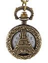 아가씨들 패션 시계 석영 합금 밴드 에펠탑 브론즈