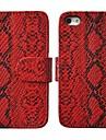 Cas Motif Angibabe unite centrale de serpent de stand de cuir de couverture de cas pour l\'iPhone 5/5 ans