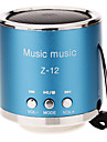 Z-12 Rounded Mini Speaker sostegno TF / SD / USB / Radio FM (Blu)