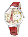 Femme Montre Decontractee Quartz Bande Etincelant Noir Blanc Rouge Marron Rose