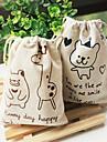 desenhos animados linda pequeno urso e saco de armazenamento padrao deerlet